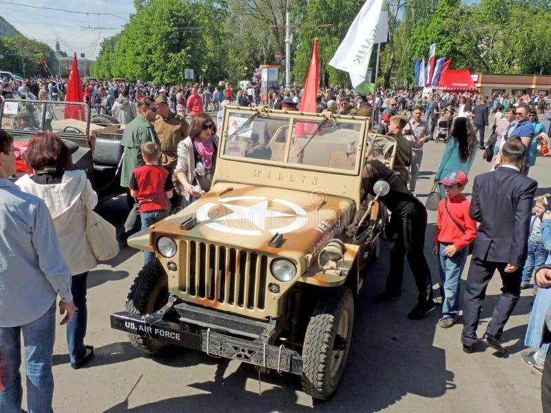 Carro do MB de Willys do Emprestar-aluguer da segunda guerra mundial imagens de stock