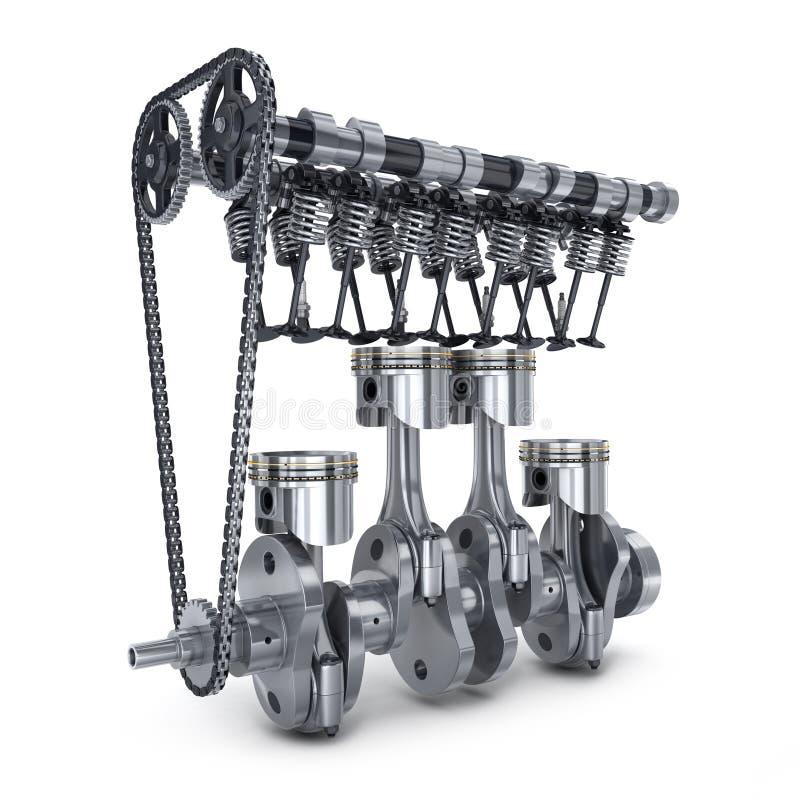 Carro do motor do conceito ilustração stock