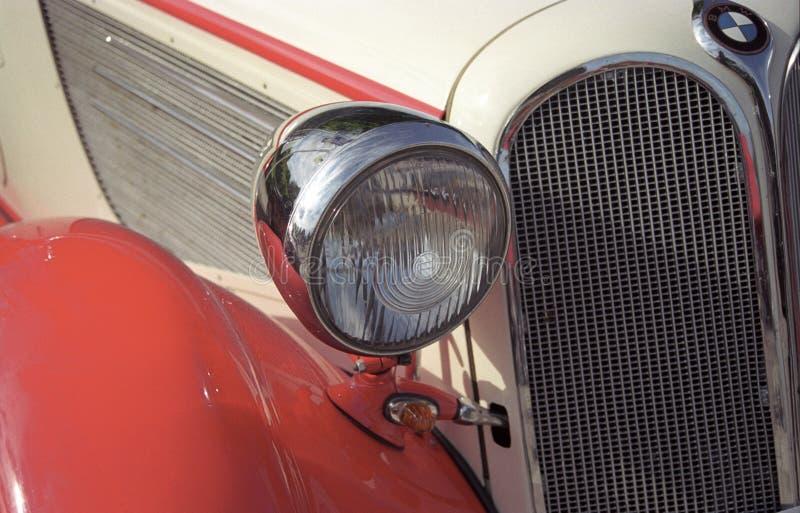 Carro do oldtimer do logotipo de BMW imagens de stock royalty free