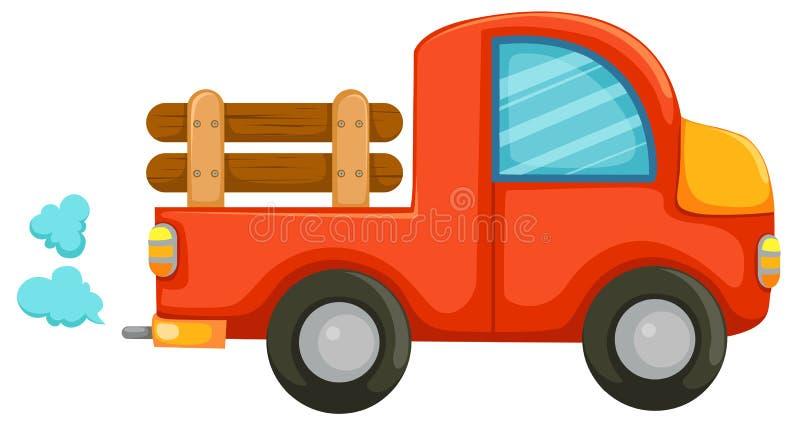 Carro do país ilustração stock