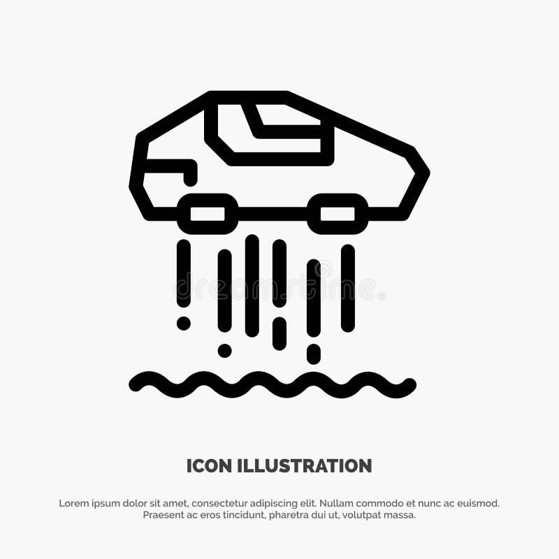 Carro do pairo, pessoal, carro, linha vetor da tecnologia do ícone ilustração royalty free