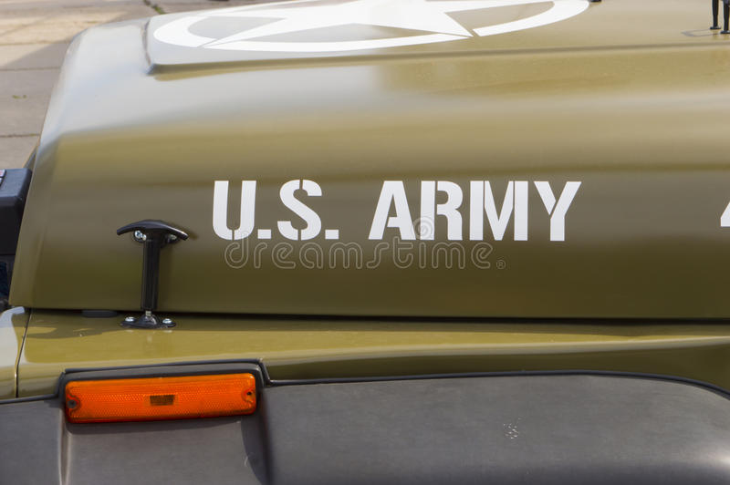 Carro do pessoal do exército dos EUA fotos de stock