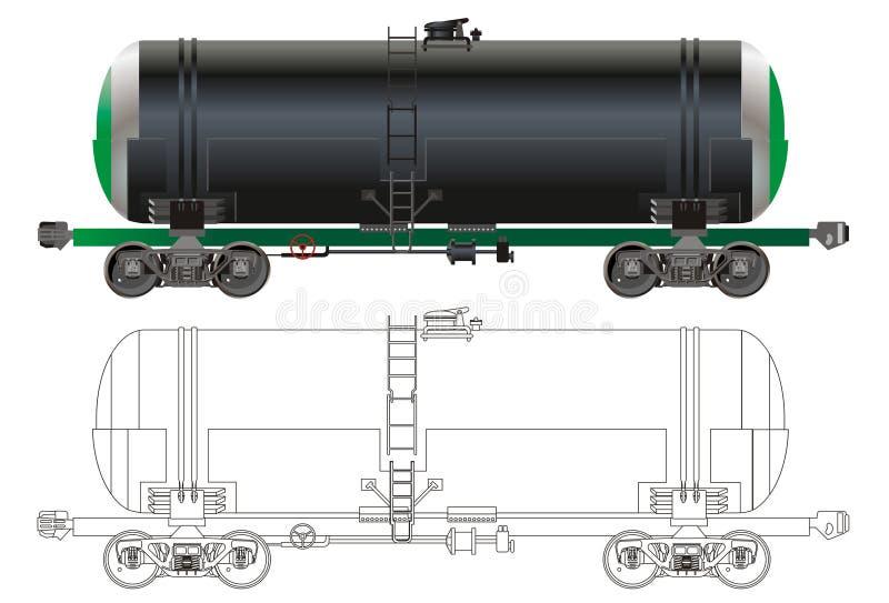 Carro do petroleiro do petróleo/gasolina ilustração royalty free