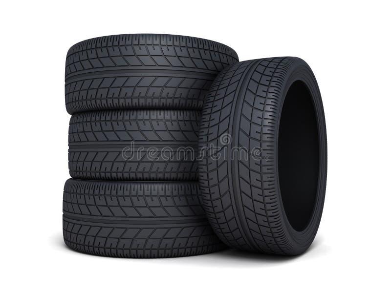 Carro do pneu ilustração royalty free