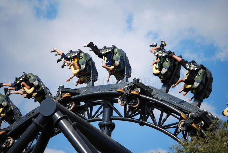 Carro do roller coaster foto de stock