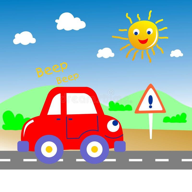 Carro do sinal acústico ilustração do vetor