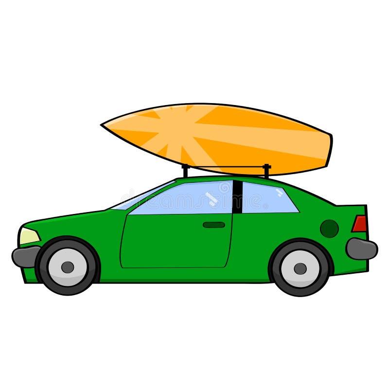 Carro do surfista ilustração do vetor