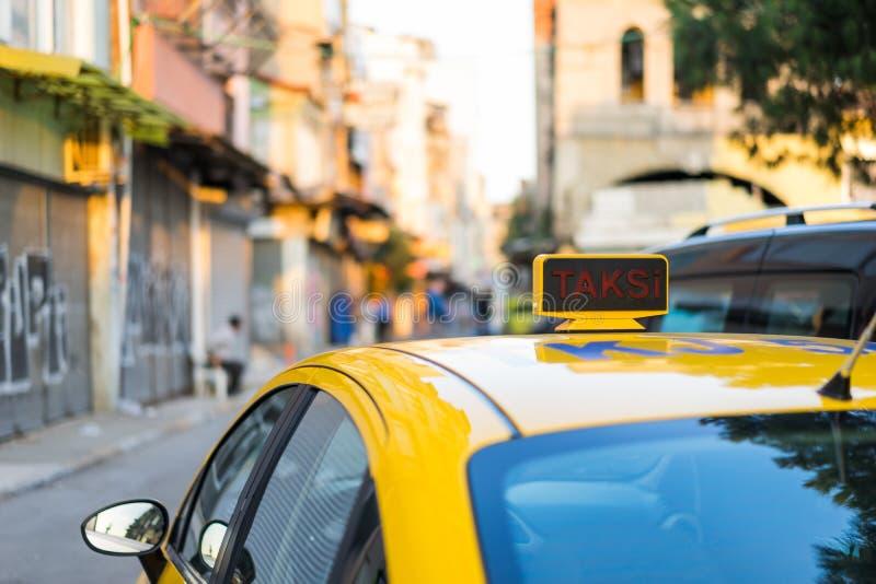Carro do táxi de Istambul fotografia de stock