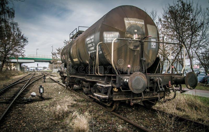 Carro Do Tanque Ferroviário imagens de stock