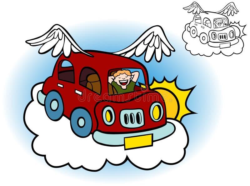 Carro do vôo ilustração do vetor