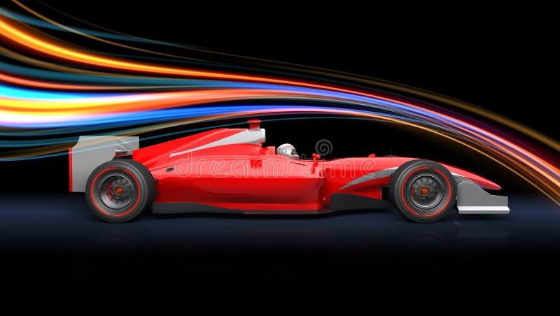 Carro do vermelho da raça da fórmula ilustração stock
