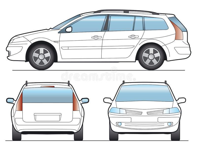 Carro do vetor ilustração stock