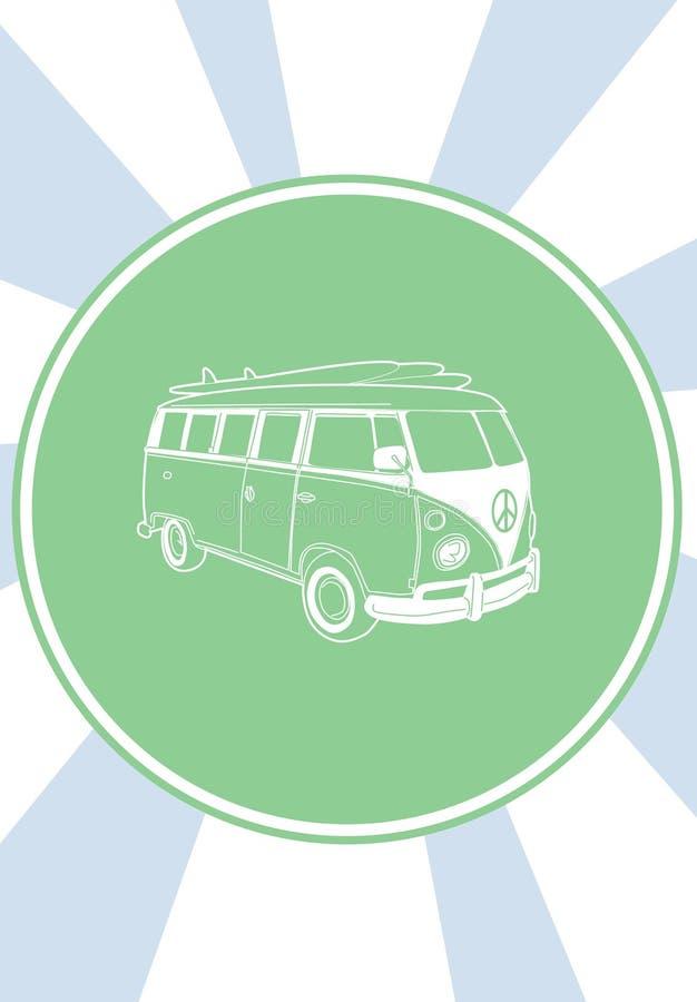 Carro dos anos 70 de Volkswagen. O summe ilustração royalty free