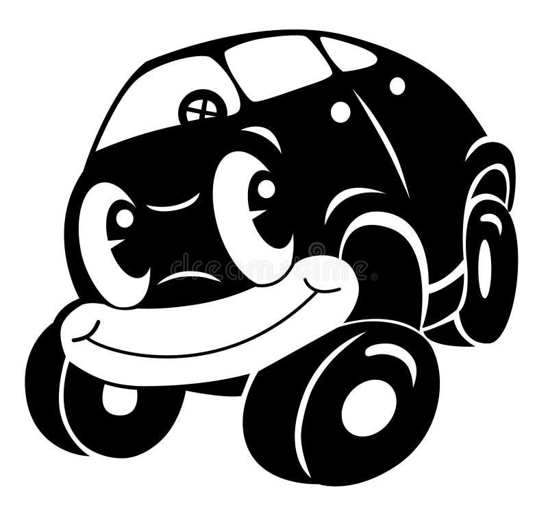 Carro dos desenhos animados ilustração do vetor