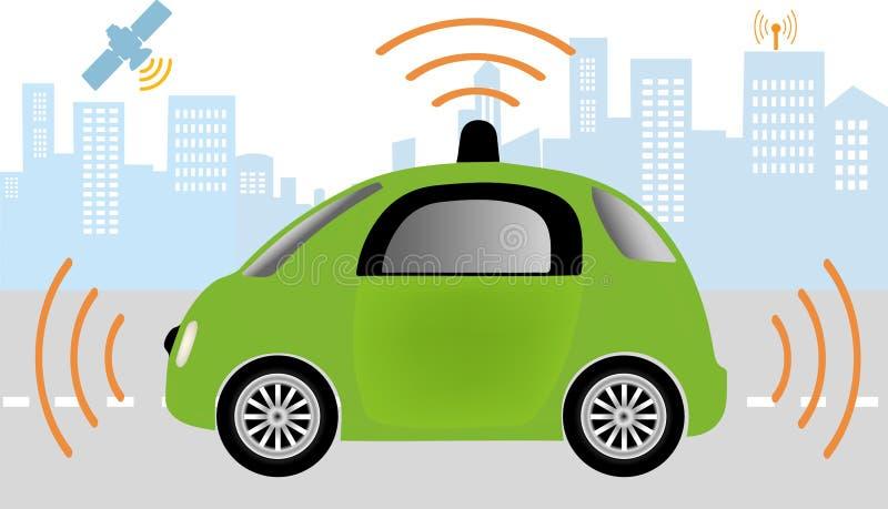 Carro driverless autônomo ilustração do vetor
