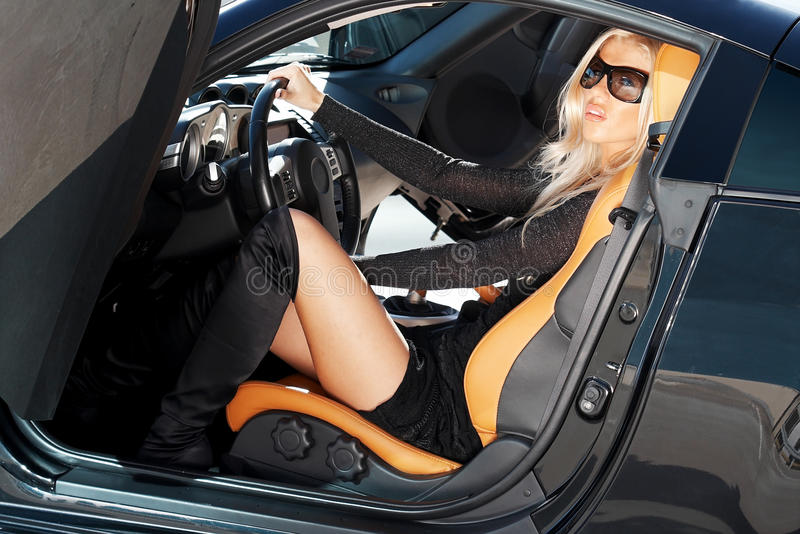 Carro e borracho imagem de stock royalty free