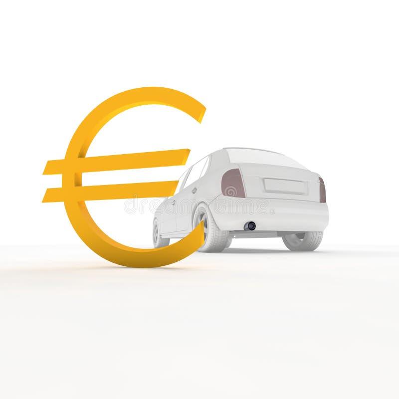 Carro e Euro ilustração stock