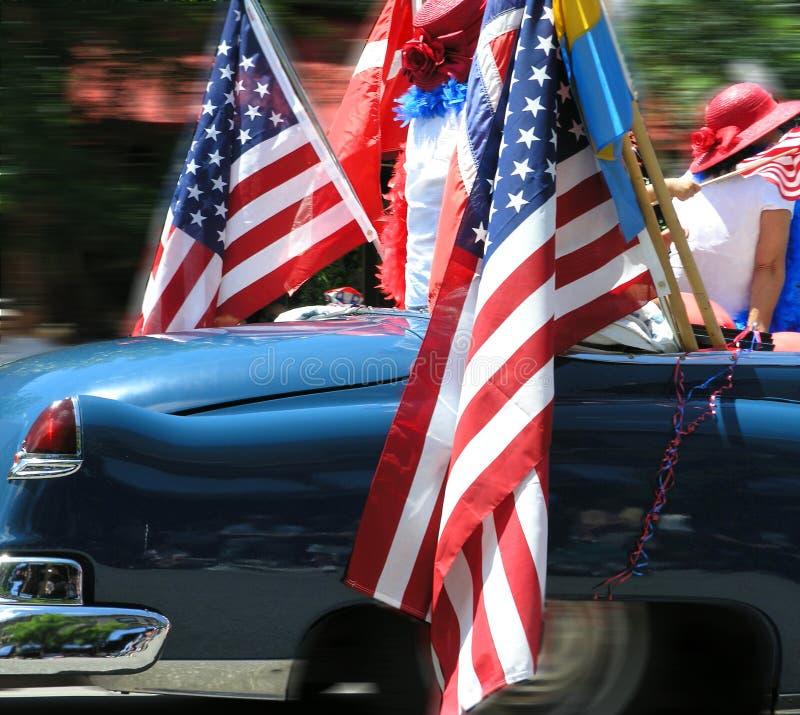 Carro e meninas americanos imagem de stock