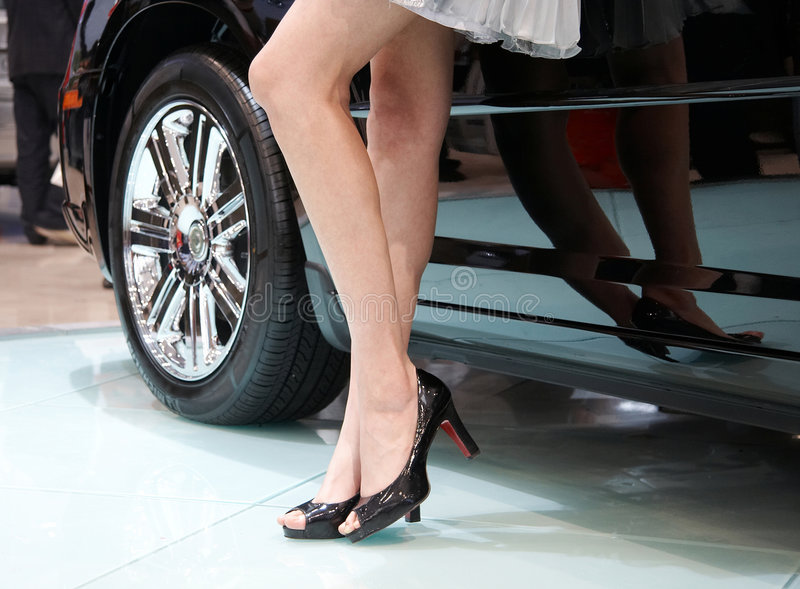 Carro e modelo imagem de stock royalty free