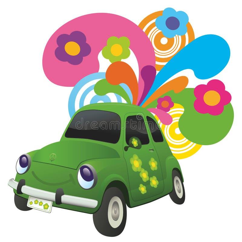Carro ecológico. ilustração do vetor