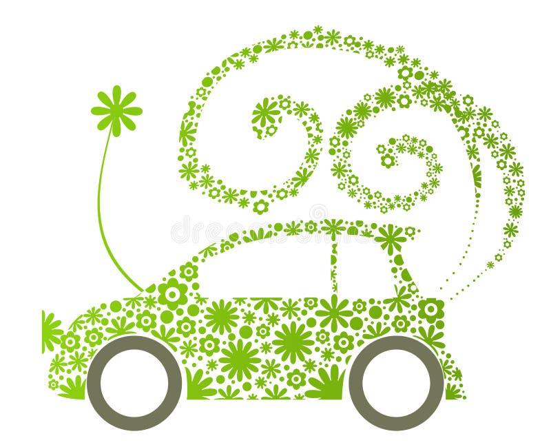 Carro ecológico ilustração royalty free