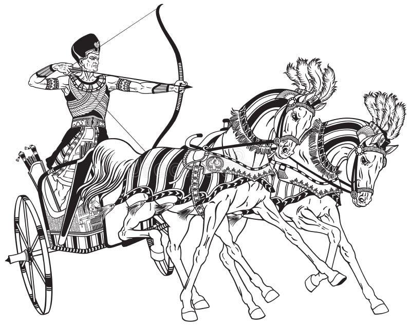 Carro egipcio stock de ilustración