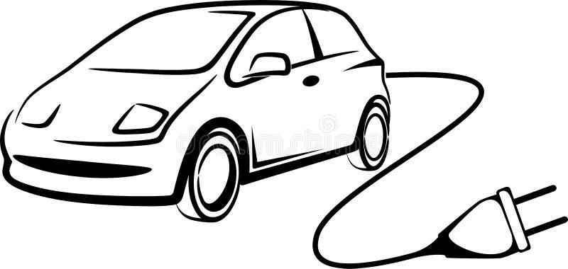 Carro elétrico ilustração royalty free