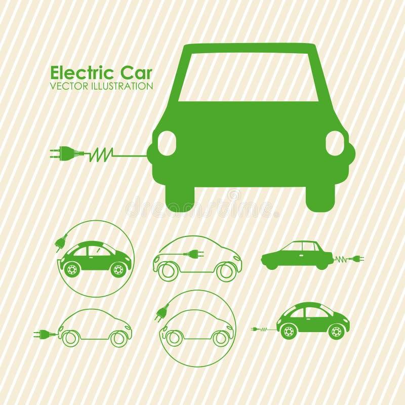 Carro elétrico ilustração stock