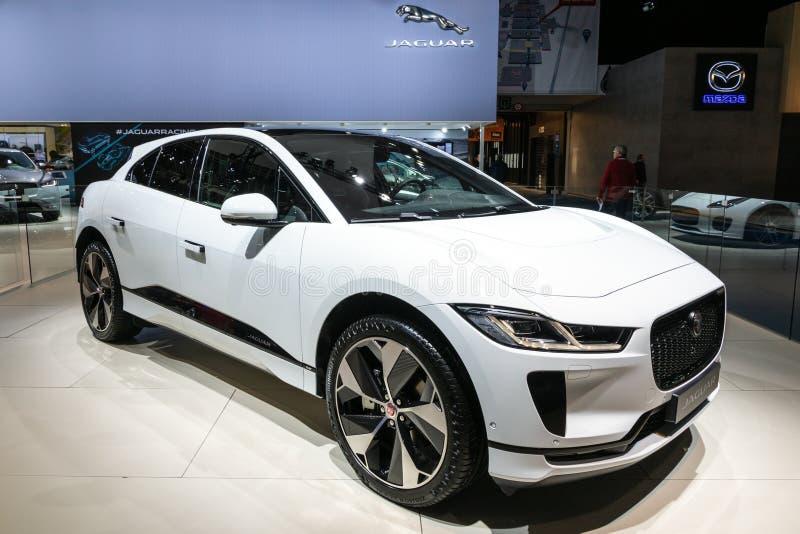 Carro 2019 elétrico do eu-ritmo EV400 SUV de Jaguar imagens de stock royalty free