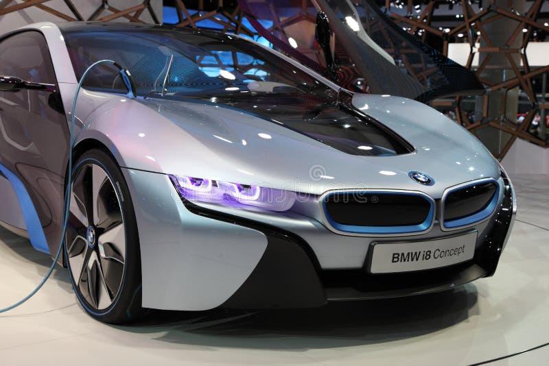 Carro elétrico i8 do conceito de BMW imagem de stock