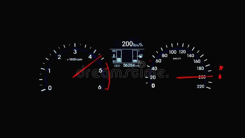 Carro em sua velocidade superior foto de stock