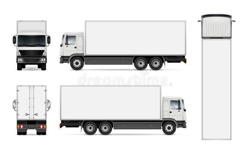 Carro en el fondo blanco ilustración del vector