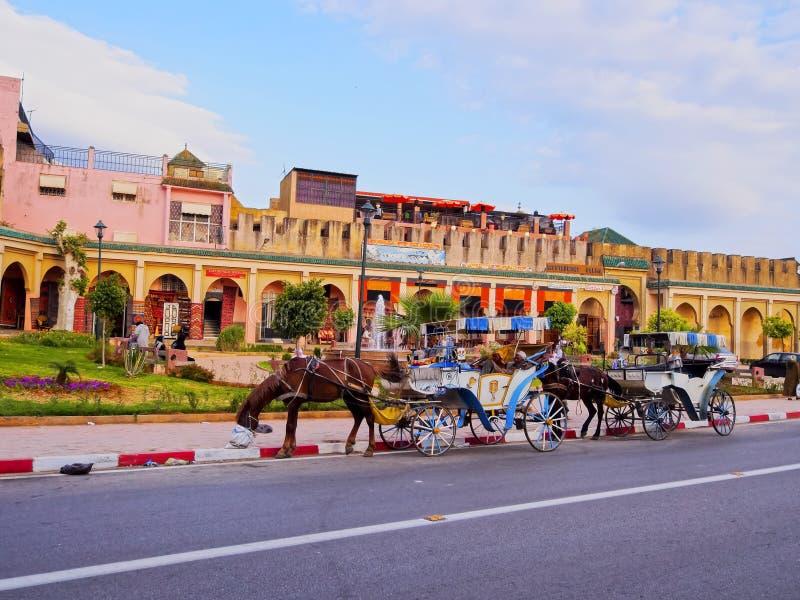Carro en Meknes, Marruecos fotografía de archivo libre de regalías