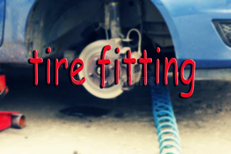 Carro, encaixe do pneu, substituição, serviço, transporte, pneumático, automóvel, fora, tecnologia, fotografia de stock
