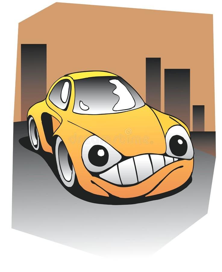 Carro engraçado fotografia de stock