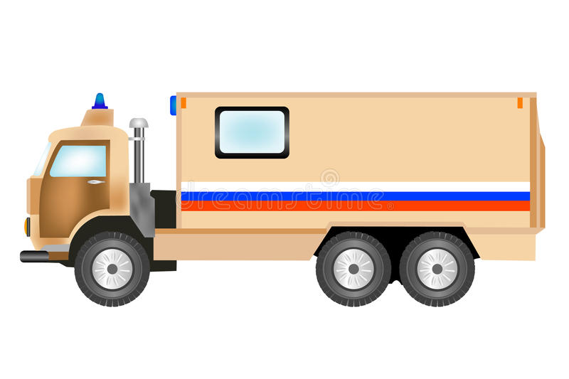 Carro equipado com para o transporte do dinheiro ilustração royalty free