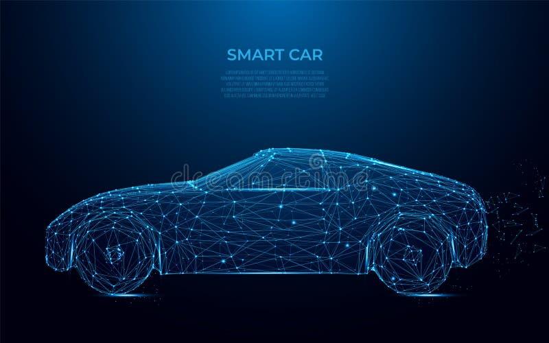 Carro esperto Imagem abstrata de um carro esperto sob a forma de um céu ou de um espaço estrelado Velocidade, movimentação, auto  ilustração royalty free