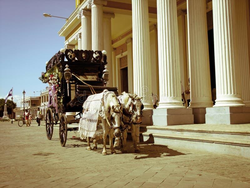Carro fúnebre em Granarda Nicarágua fotografia de stock royalty free