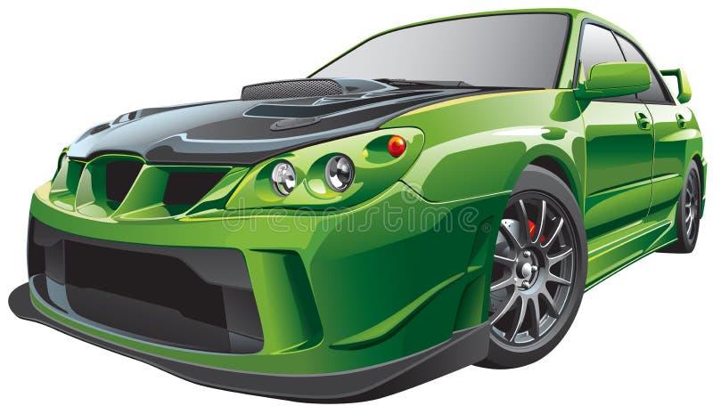 Carro feito sob encomenda verde ilustração royalty free