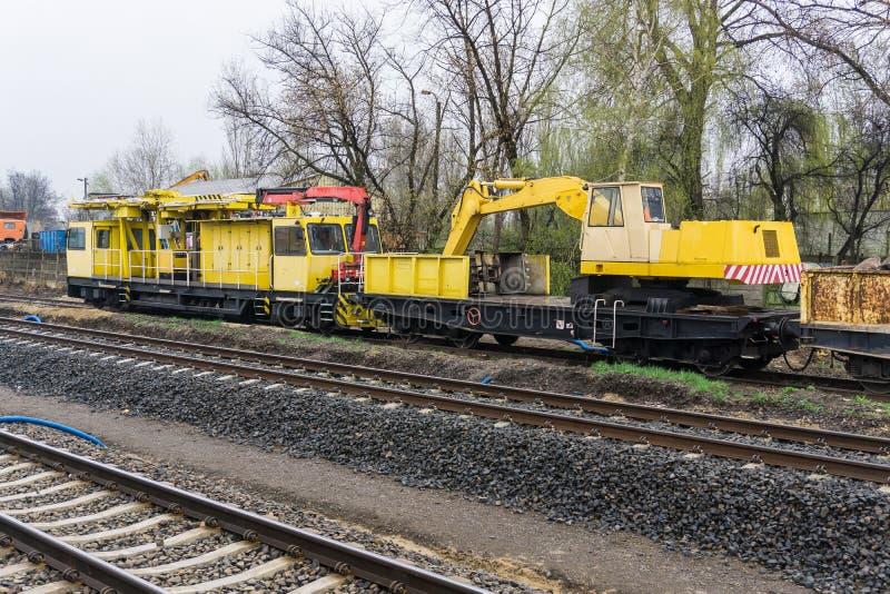 Carro ferroviario especial imagenes de archivo