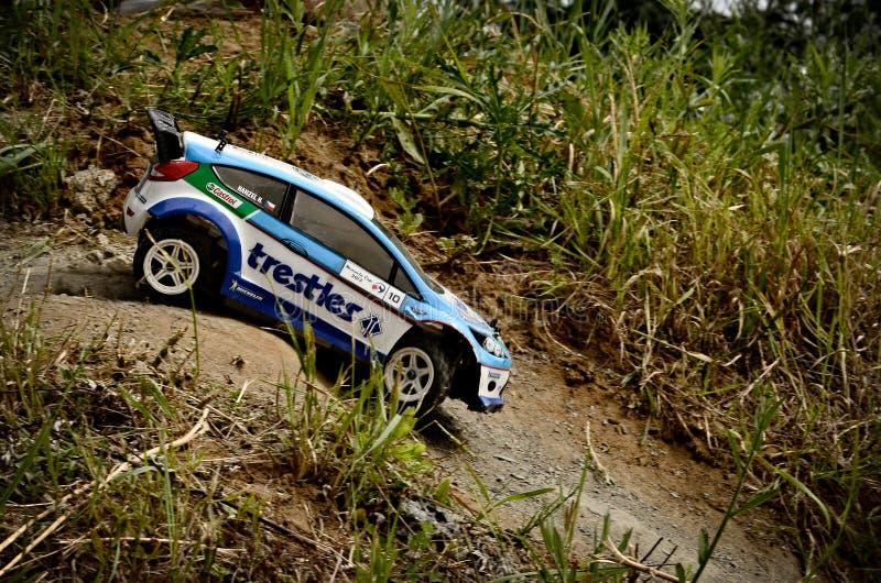 Carro Ford Fiesta WRC da reunião de Rc imagens de stock royalty free