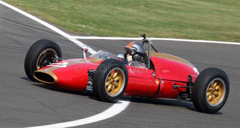 Carro grande de Prix da fórmula 1 clássico da garça-real F1 imagens de stock royalty free