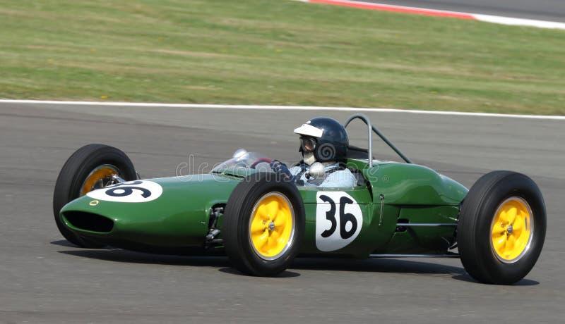 Carro grande de Prix da fórmula 1 do clássico de Lotus 21 imagens de stock royalty free