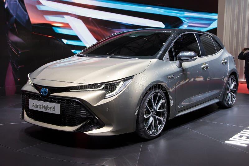 Carro 2018 híbrido de Toyota Auris fotos de stock royalty free