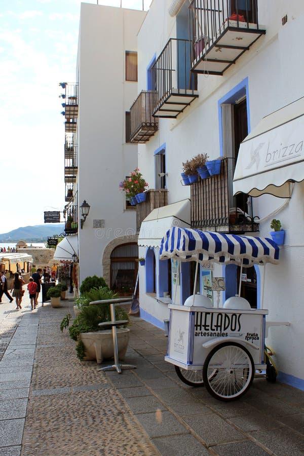 Carro histórico do gelado na Espanha fotos de stock royalty free