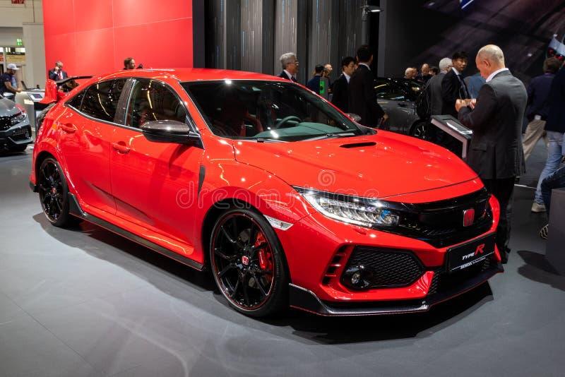 Carro Honda Civic Type-R 2019 fotografia de stock