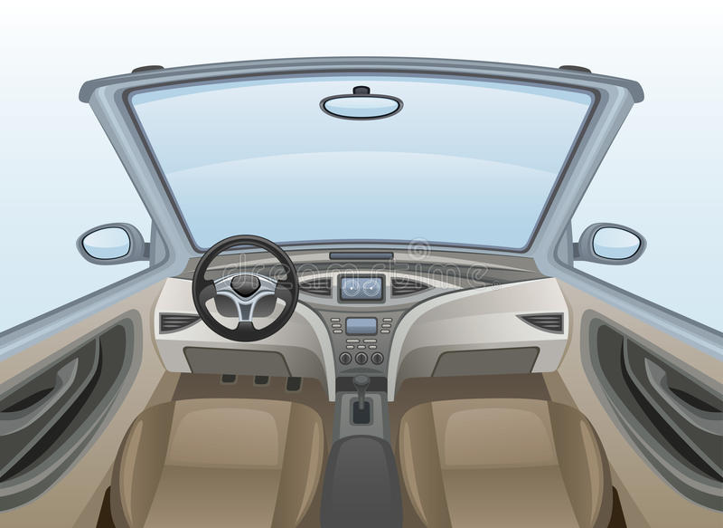 Carro interno ilustração stock