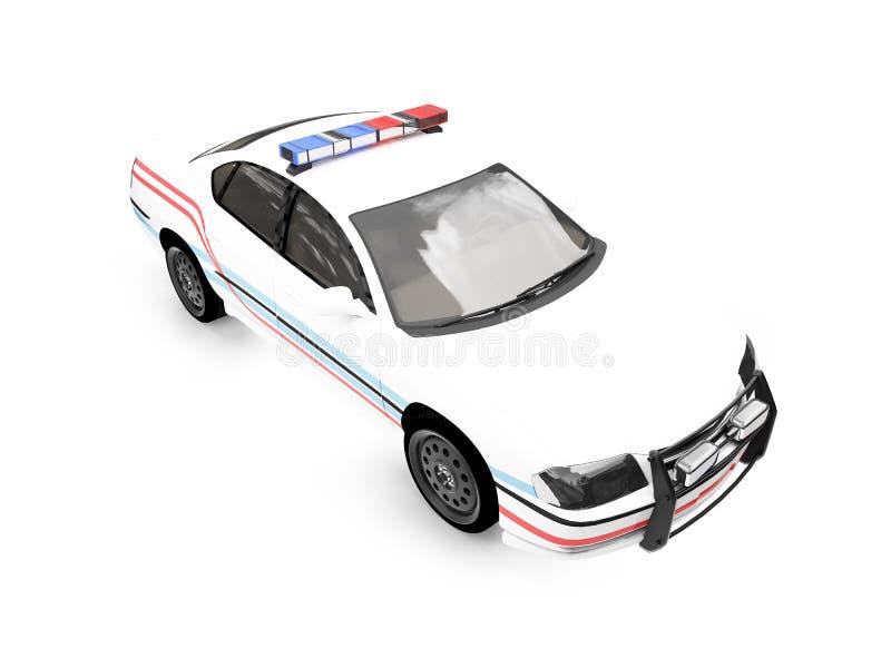 Carro isolado do branco da polícia ilustração do vetor