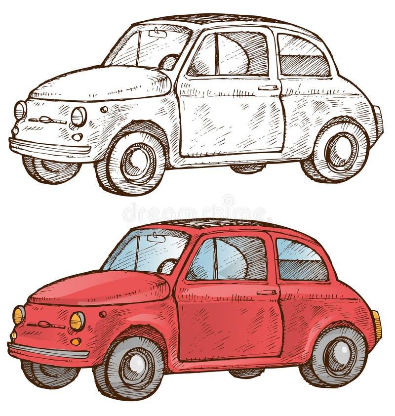 Carro italiano velho ilustração stock