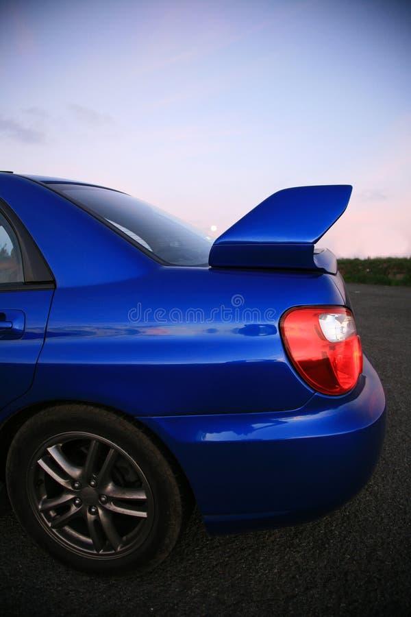 Carro japonês do desempenho no crepúsculo foto de stock royalty free